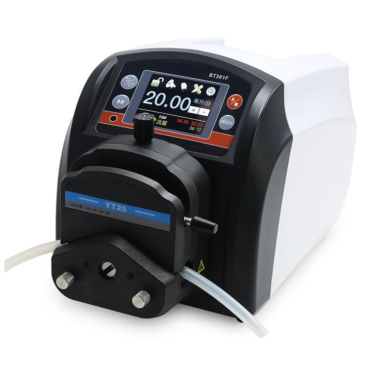 定时灌装加料泵 BT101F自动分装蠕动泵 定量传输计量泵示例图3