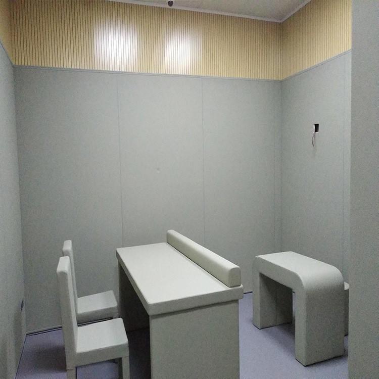 法院羈押室阻燃防撞軟包 奧壹凱皮革吸音環保軟包 B1級阻燃軟包