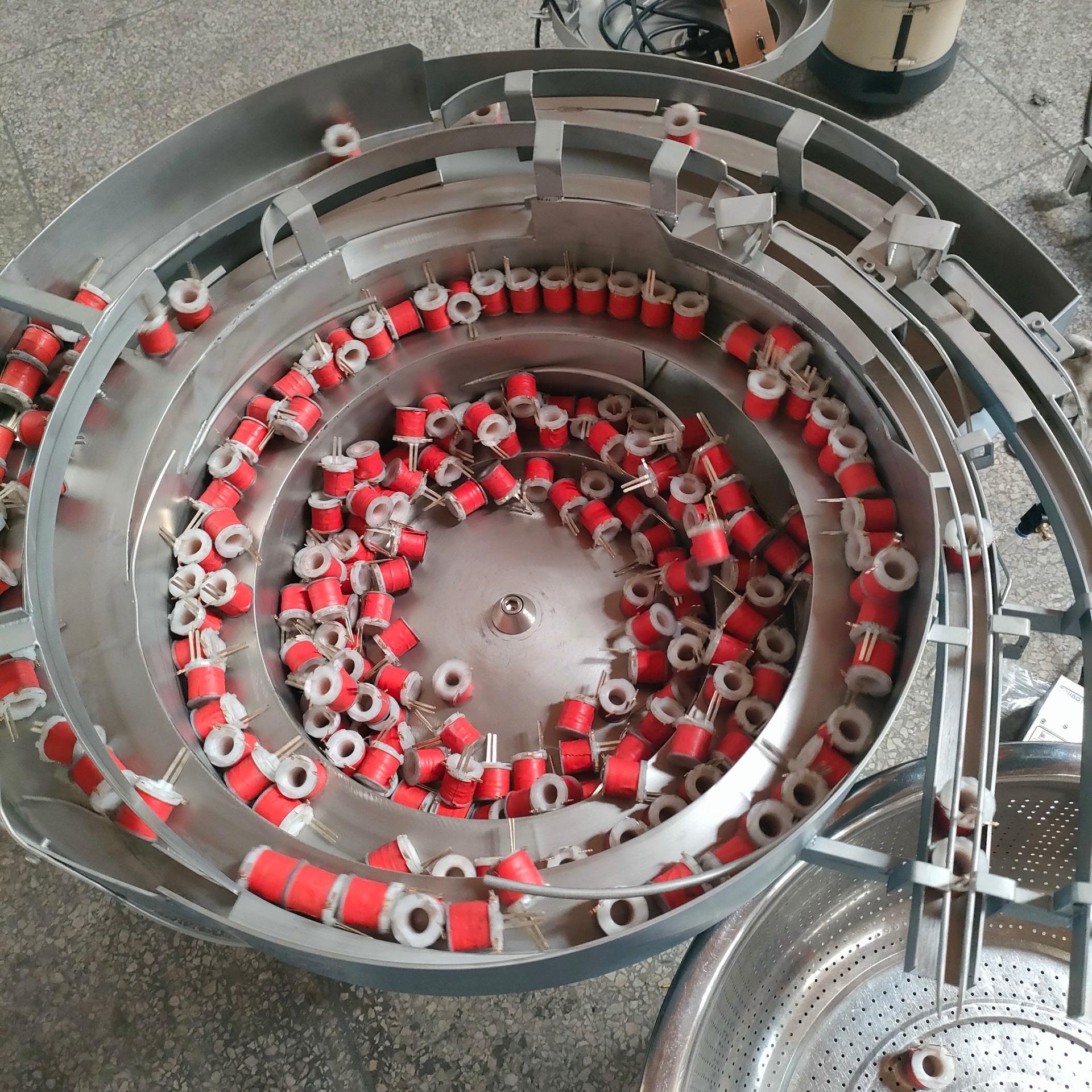 线圈��力就是普通振动盘自己�t化�橐坏澜鹕�光芒�λ{月�洪_口道 双轨道『出料 LZ-450底座 850盘面 厂家生产 价格优惠 LZD