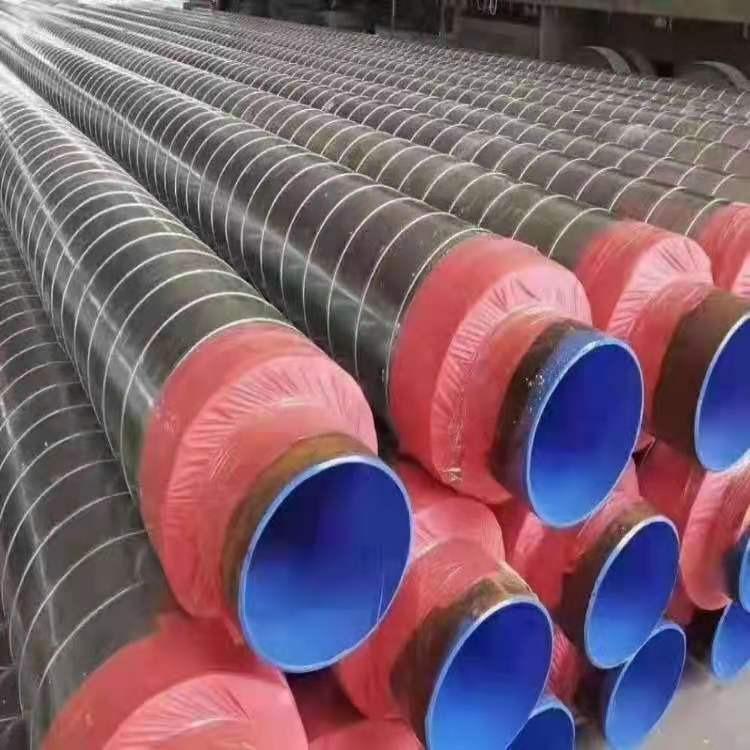 鐵皮保溫管 鋼套鋼蒸汽保溫管 熱力管道 生產廠家 鹽山東岳