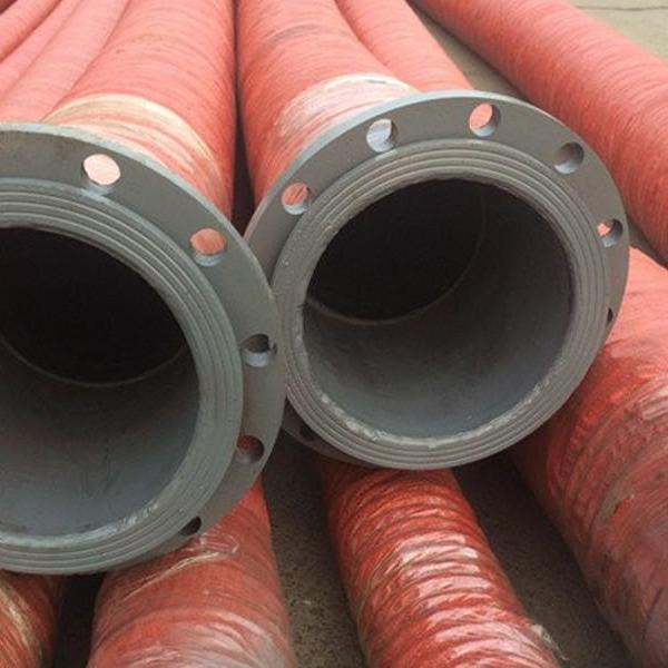 大口徑高壓膠管 大口徑鋼絲膠管 大口徑法蘭膠管洲新橡塑生產