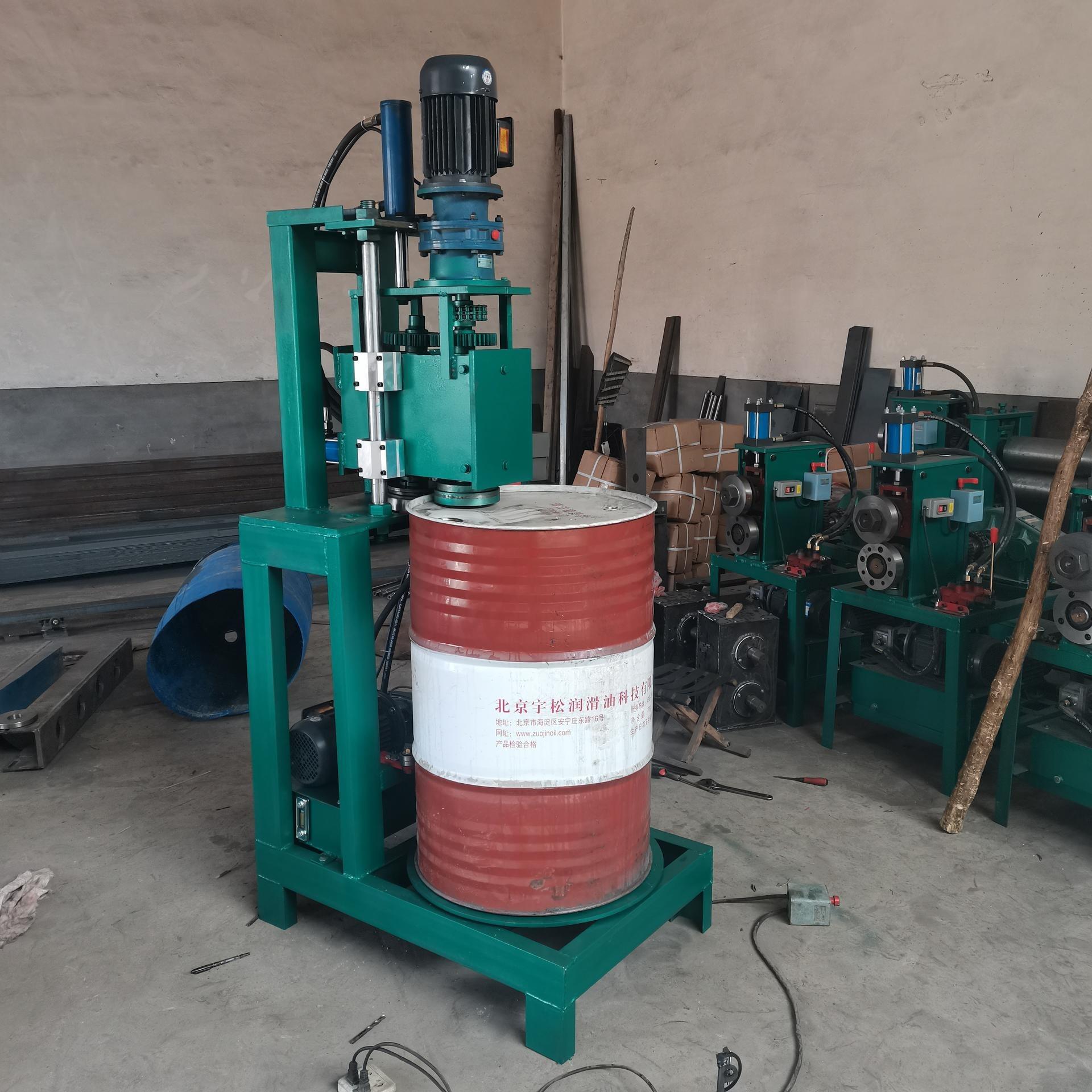 新款立式160型油桶切蓋機 廢舊油桶切蓋機 廢油桶切割機 油桶切身壓平一體切割機廠家