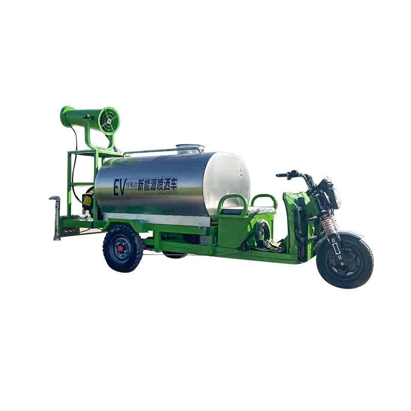 電動三輪灑水車 物業小區不銹鋼消毒水噴灑車 環衛道路降塵霧炮機